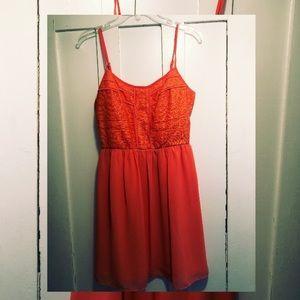 Bright orange dress - size 5/6